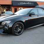 Shoreline_Motoring_Mercedes_Benz_e63_AMG_Black-out_Custom_Paint_PedalBox_Candy_Black_Brushed_Wheels